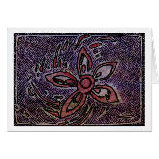 Tarjeta Patata de la flor que talla con la cruz que trama