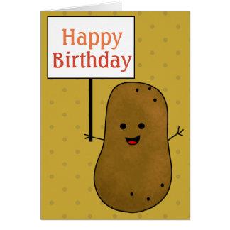 Tarjeta Patata del feliz cumpleaños