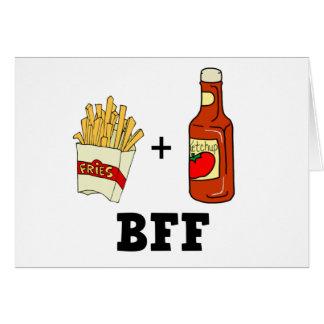 Tarjeta Patatas fritas y salsa de tomate BFF