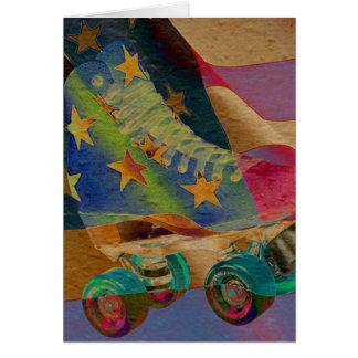 Tarjeta Patín de ruedas abstracto de las estrellas