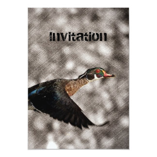 Tarjeta Pato de madera de las aves acuáticas primitivas