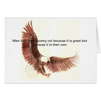 Tarjeta patriota del águila