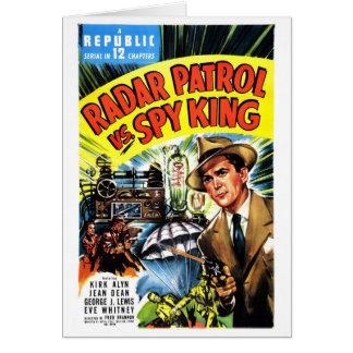 Tarjeta Patrulla del radar contra rey del espía