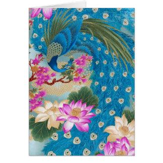 Tarjeta Pavo real Lotus