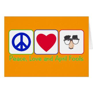 Tarjeta Paz, amor y inocentes