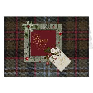 Tarjeta Paz del navidad del tartán de Lochaber