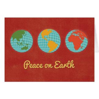 Tarjeta Paz en visiones mundiales de la Tierra-Tres