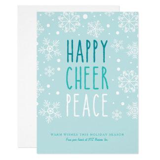 Tarjeta Paz feliz de la alegría