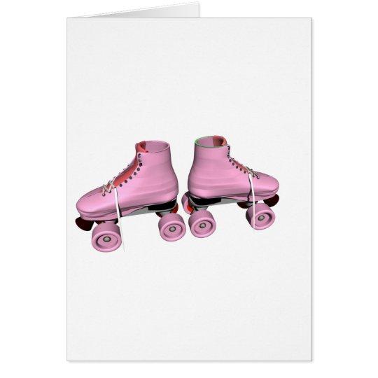 Tarjeta Pcteres de ruedas rosados