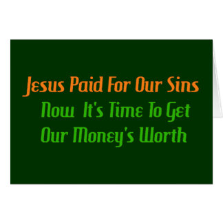 Tarjeta Pecado pagado por adelantado