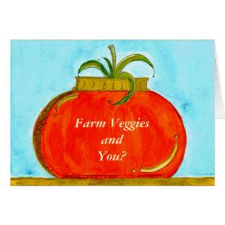 Tarjeta PedagogyGreetings: Tomate puro (personalizable)