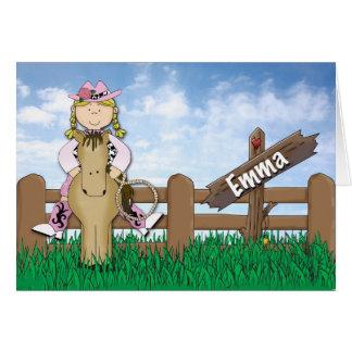 Tarjeta Pedido de encargo de Emma de la vaquera