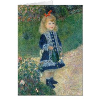 Tarjeta Pedro un Renoir el | un chica con una regadera