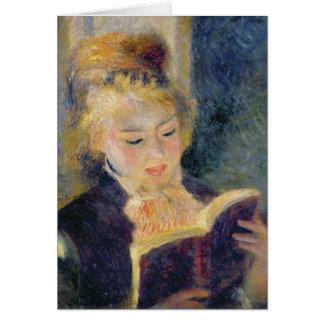 Tarjeta Pedro una lectura del chica de Renoir el |