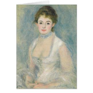 Tarjeta Pedro una señora Henriot de Renoir el |