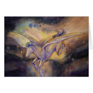 Tarjeta Pegaso con la nebulosa