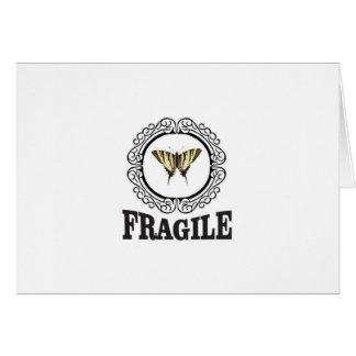 Tarjeta Pegatina frágil de la mariposa