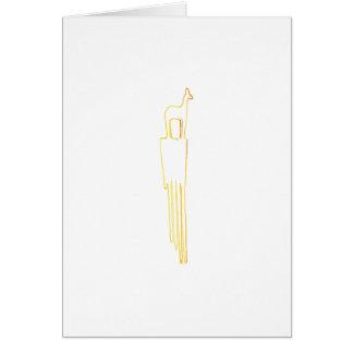 Tarjeta Peine egipcio del Gazelle