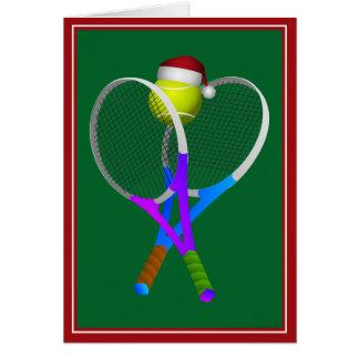Tarjeta Pelota de tenis y estafas del navidad