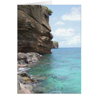 Tarjeta Pen¢ascos del Caribe en Grenada Notecard