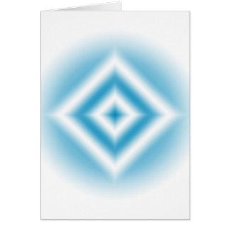 Tarjeta pendiente azul del diamante del Personalizar-cielo