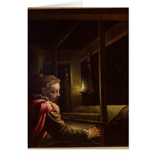 Tarjeta Penélope que deshace su tapicería