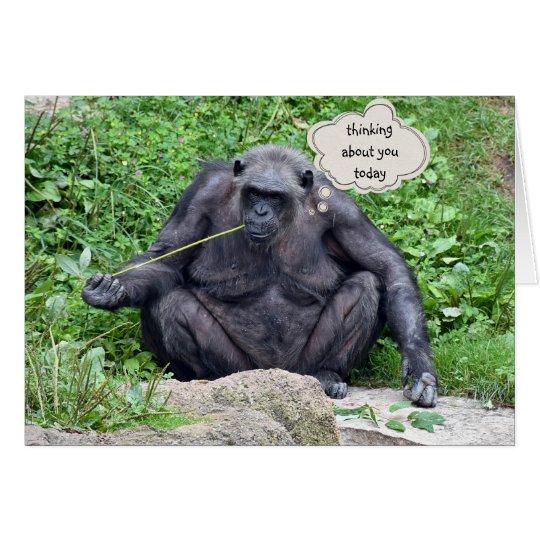 Tarjeta Pensamiento en usted chimpancé