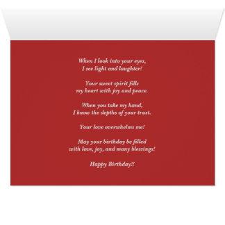 Tarjeta Pensamientos de usted cumpleaños