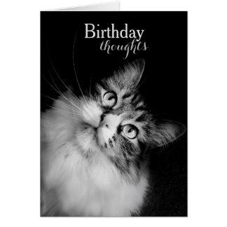 Tarjeta Pensamientos del cumpleaños de la perspectiva de