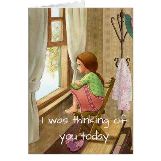 Tarjeta Pensando en usted tarjeta, estímulo, condolencia