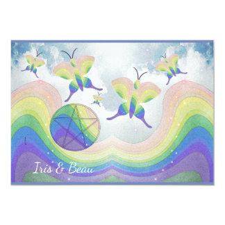 Tarjeta Pentáculo Handfasting de la mariposa de la prisma