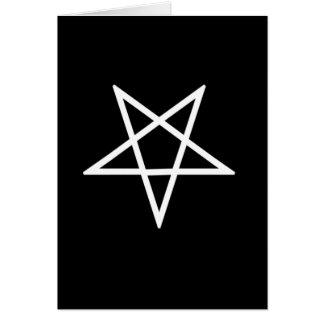 Tarjeta Pentagram blanco invertido