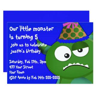 Tarjeta Pequeña fiesta de cumpleaños del monstruo