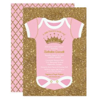 Tarjeta Pequeña princesa Baby Bodysuit Shower Invitation
