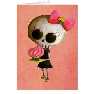 Tarjeta Pequeña Srta. Death con la magdalena