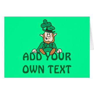 Tarjeta Pequeño Leprechaun - añada su propio texto