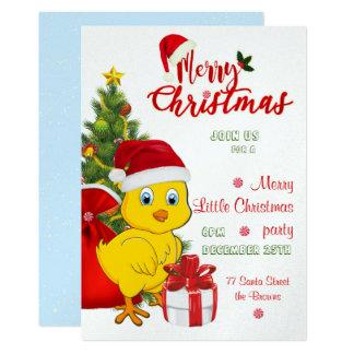 Tarjeta Pequeño navidad del pollo del bebé