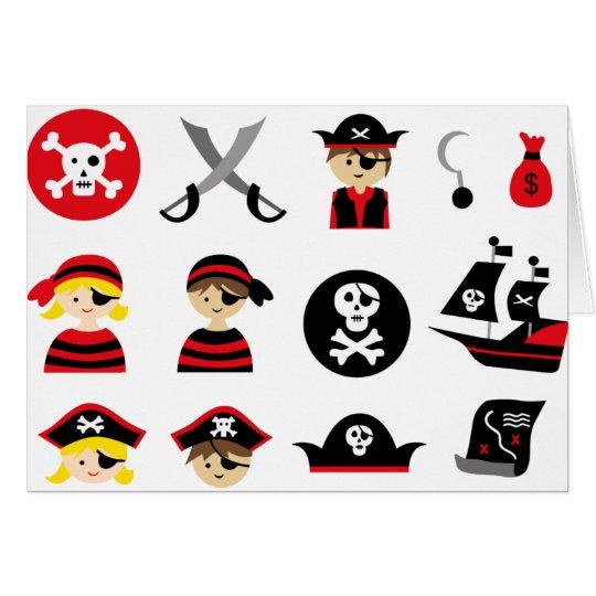 Tarjeta Pequeño pirata todo