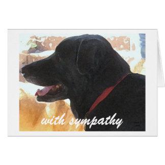 Tarjeta Pérdida de perro - condolencia del mascota