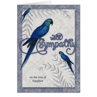 Tarjeta Pérdida de un pájaro - condolencia del mascota del