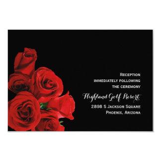 Tarjeta perfecta de la recepción de los rosas