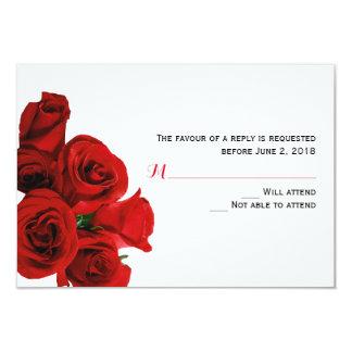 Tarjeta perfecta de la respuesta de los rosas