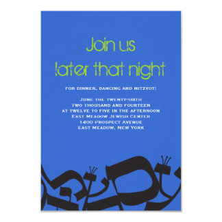 Tarjeta PERFECTA del fiesta de Mitzvah del palo de Invitación 8,9 X 12,7 Cm