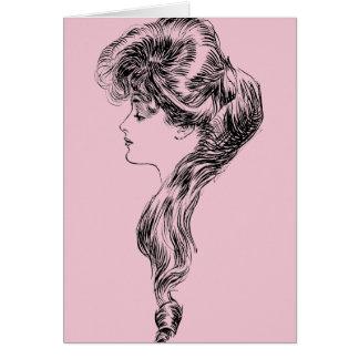 Tarjeta Perfil de un chica de Gibson, 1903