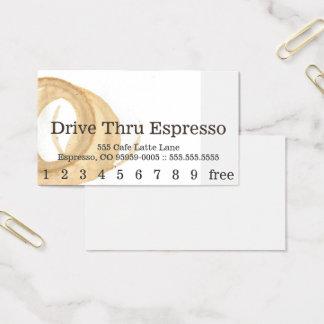 Tarjeta De Visita Tarjeta perforada de la mancha del café de la