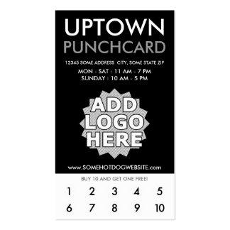 tarjeta perforada de la parte alta de la lealtad tarjetas de visita