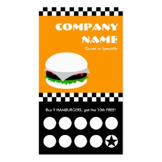tarjeta perforada de los inspectores de la hamburg tarjeta de visita