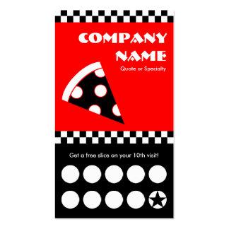 tarjeta perforada de los inspectores de la pizza plantillas de tarjetas personales