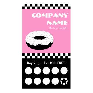 tarjeta perforada de los inspectores del buñuelo plantillas de tarjetas personales