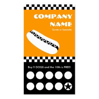 tarjeta perforada de los inspectores del perrito c tarjetas personales
